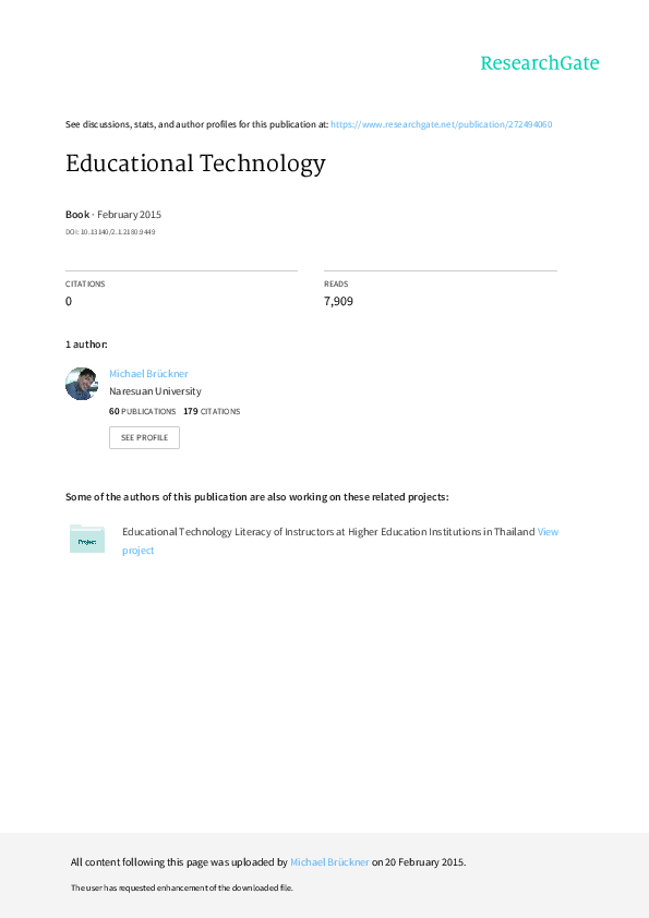 PDF) Educational Technology | Mike Miller - Academia edu
