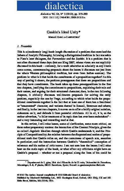PDF) Gaskin's Ideal Unity | Manuel García-Carpintero