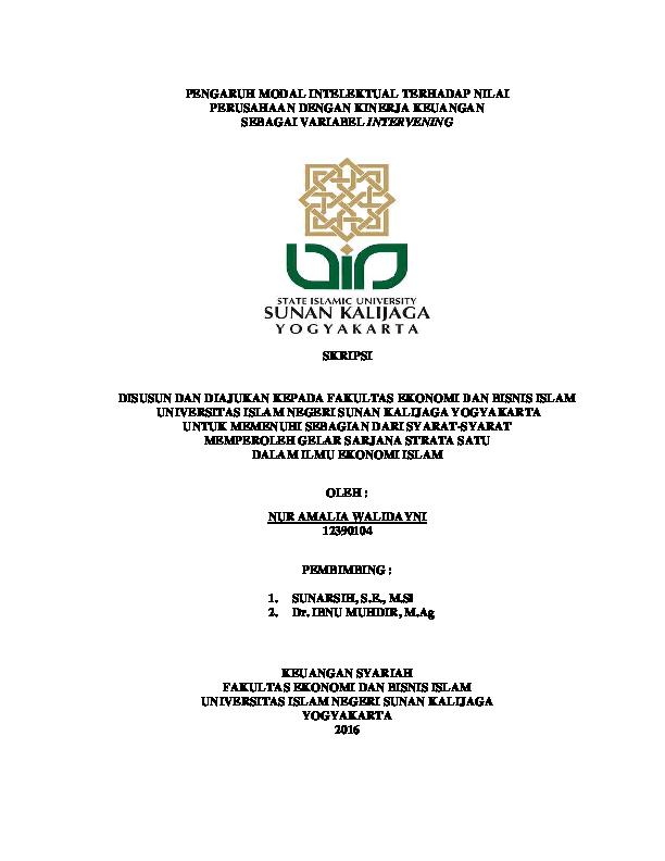 Pdf Pengaruh Modal Intelektual Terhadap Nilai Perusahaan Dengan