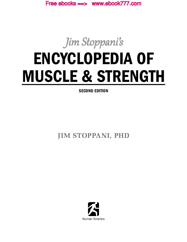 PDF) ENCYCLOPEDIA OF MUSCLE & STRENGTH SECOND EDITION