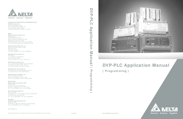 PDF) DVP-PLC Application Manual | giang phan - Academia edu