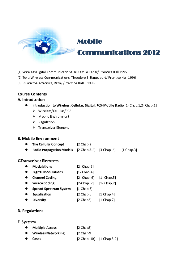 PDF) Wireless Communications 2012 (1) | JASMINE K - Academia edu