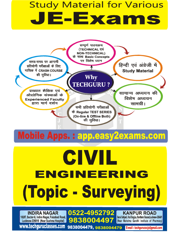 PDF) SSC-JE (CE) : SURVEYING TECHGURU CLASSES for SSC-JE