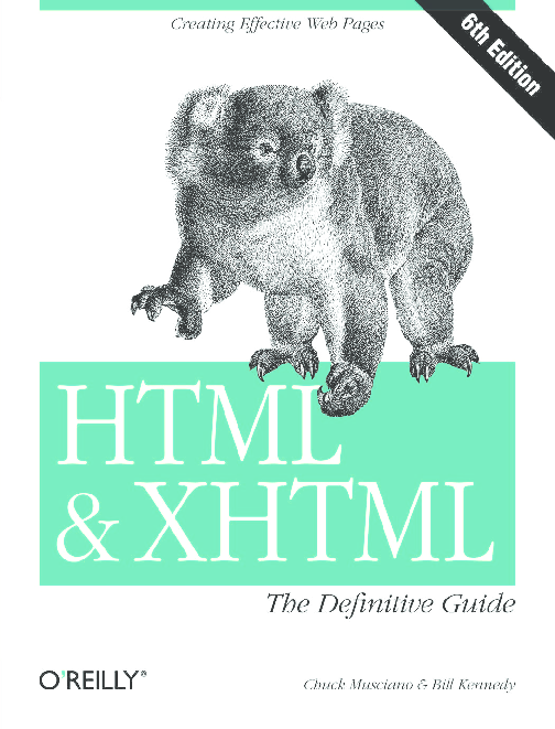 PDF) HTML XHTML- The Definitive Guide 6th Edition | Howard