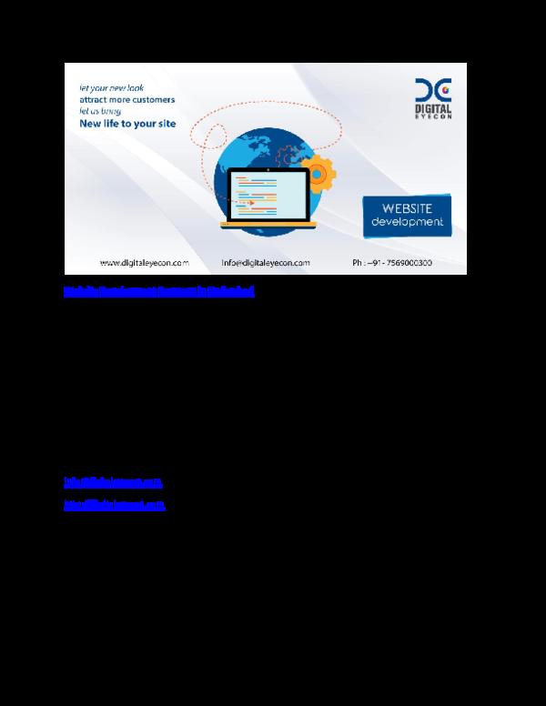 Pdf Website Development Company In Hyderabad Digital Eyecon Academia Edu