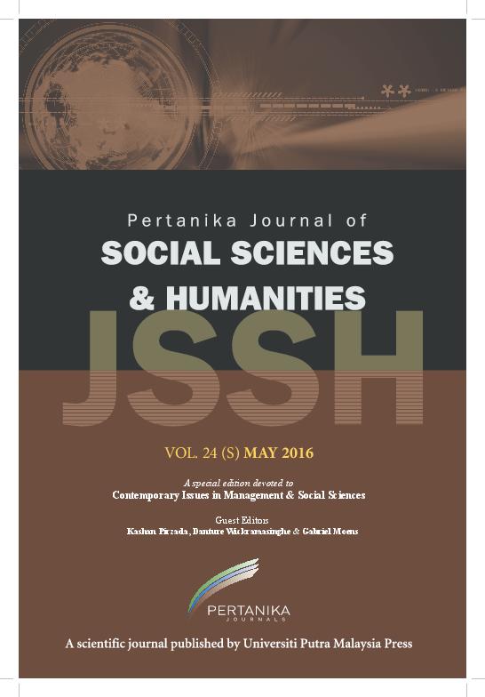Pdf Pertanika Journal Of Social Sciences Humanities Isi Scopus Special Issue 2016 Dr Kashan Pirzada Gabriel A Moens Stuart Locke Zulkiflee Daud Al Fazaalloh Mohd Hamran Mohamad Peera Tangtammaruk