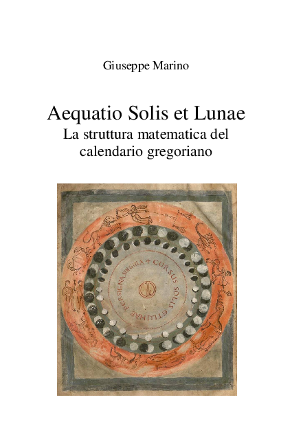 Ogni Quanti Anni Si Ripete Il Calendario.Pdf Aequatio Solis Et Lunae La Struttura Matematica Del