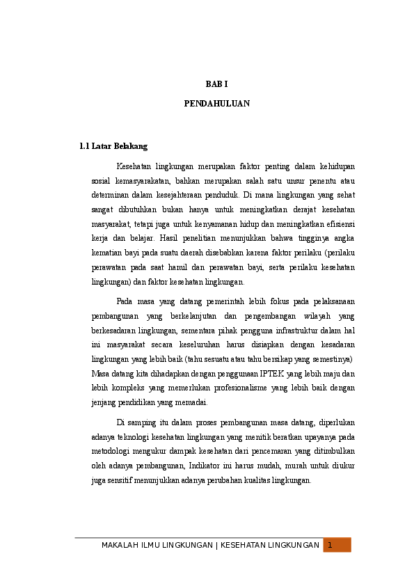 Makalah Kesehatan Lingkungan Isi Hsc Alief Nur Firmansyah Academia Edu