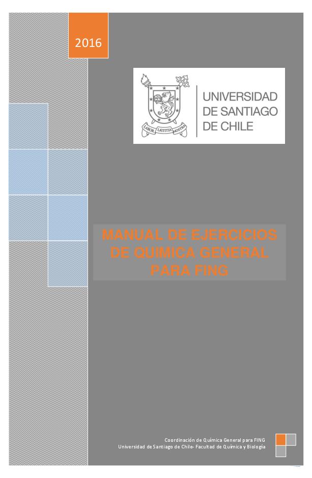 Pdf Manual De Ejercicios De Quimica General Para Fing