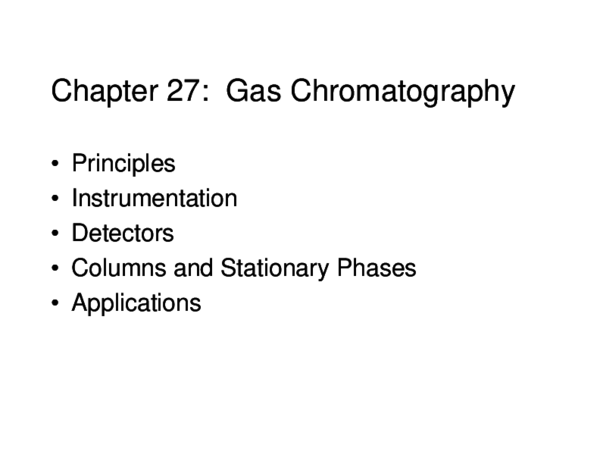 GAS CHROMATOGRAPHY PRINCIPLE AND APPLICATIONS PDF - Basic