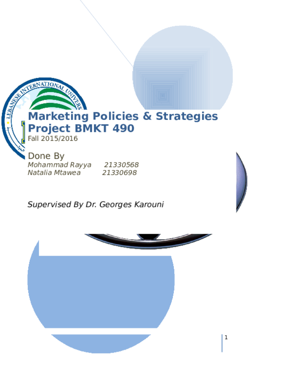 Doc Marketing Policies Strategies Project Toyota Mohammad Rayya Academia Edu