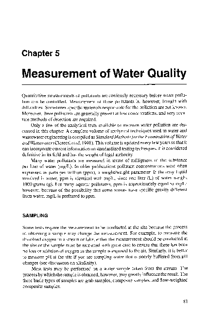 PDF) Measurement of Water Quality   Linh Hoang - Academia edu