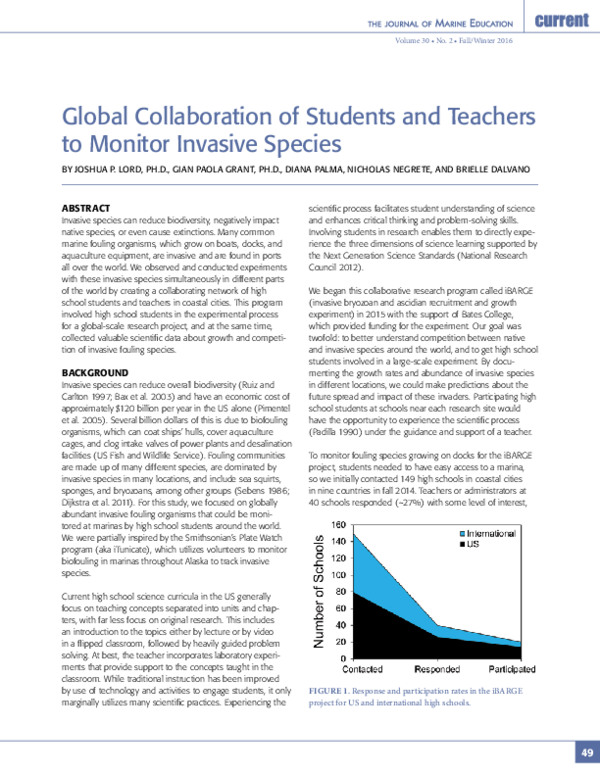 PDF) Global Collaboration of Students and Teachers to
