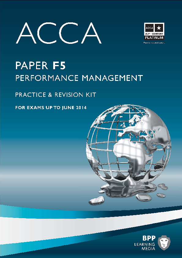 PDF) ACCA F5 - Performance Management Practice questions ie