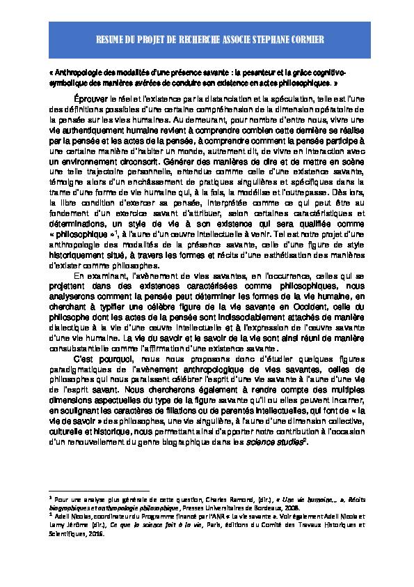pdf  anthropologie des modalit u00e9s d u2019une pr u00e9sence savante