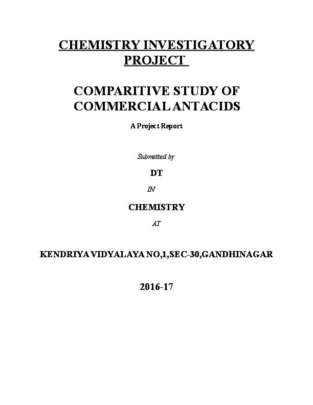 investigatory project procedure