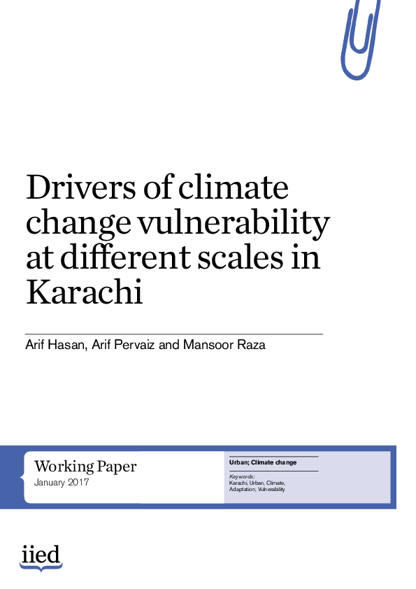 PDF) Drivers of climate change vulnerability at different