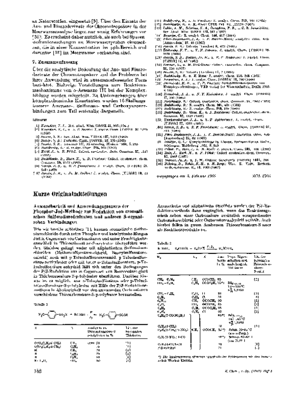 Anwendbarkeit Und Anwendungsgrenzen Der Phosphor Jod Methode