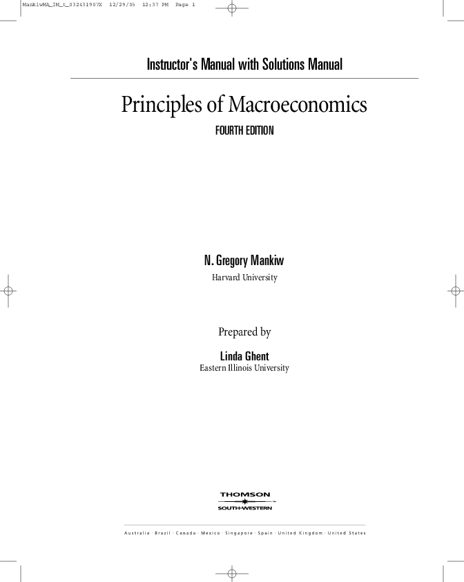 PDF) Instructor's Manual with Solutions Manual Principles of