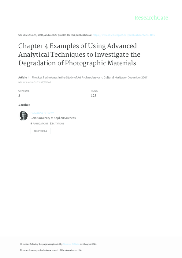 PDF) Chapter 4 Examples of Using Advanced Analytical