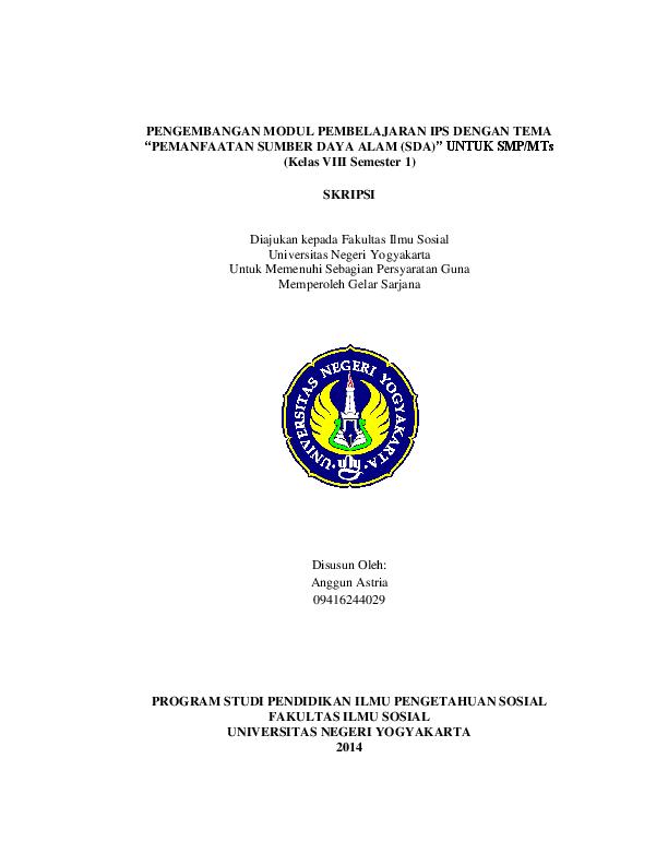 Pdf Modul Ips Kelas Viii Semester I Narwin Dunggio Academia Edu