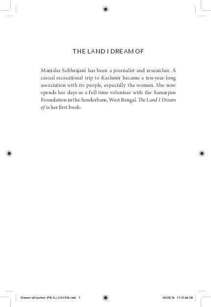 PDF) THE land I drEam Of | Manisha Sobhrajani - Academia edu