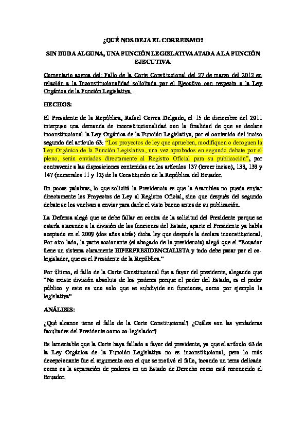 220ea481c4 QUÉ NOS DEJA EL CORREISMO  SIN DUDA ALGUNA