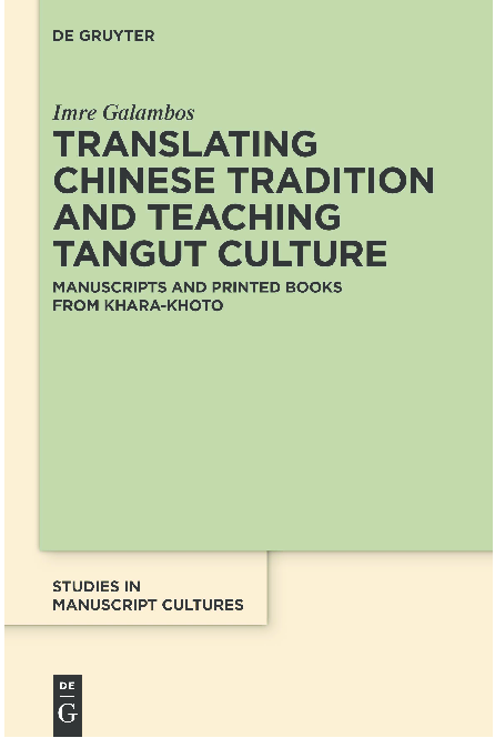 PDF) Translating Chinese Tradition and Teaching Tangut