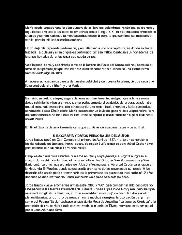 Doc Novela Maria Jorge Isacs Dayana Rosero Academia Edu
