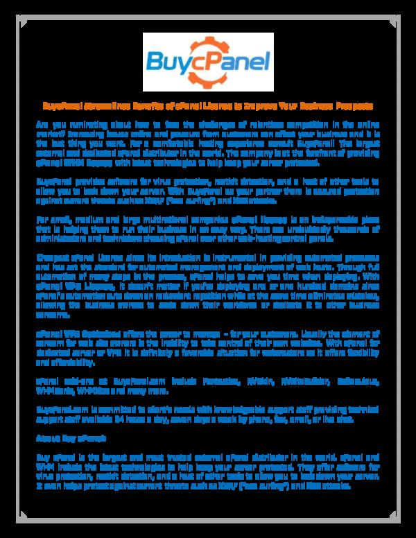 PDF) cPanel License   Buy cPanel - Academia edu