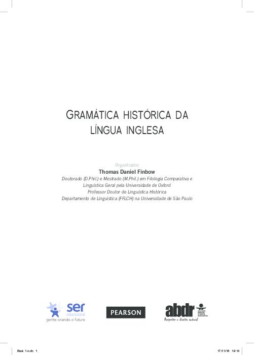 Pdf Gramatica Historica Da Lingua Inglesa Tom Finbow Academia Edu