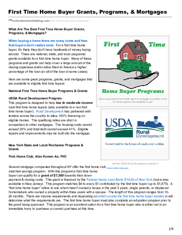 First Time Home Buyer Programs, Grants, & Mortgages | Kyle