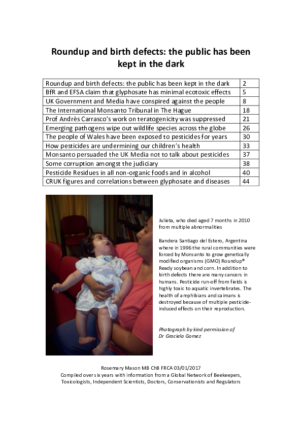 PDF) Roundup and birth defects: the public has been kept in