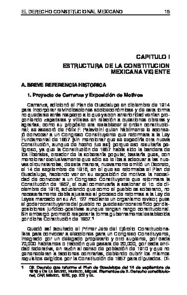 Pdf El Derecho Constitucional Mexicano Capitulo I