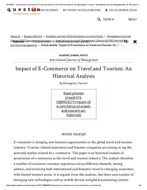 PDF) International Journal of Management Impact of E-Commerce on
