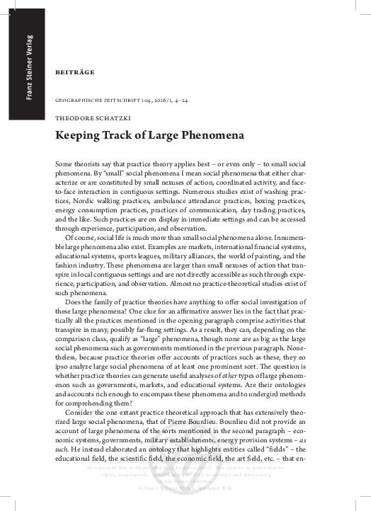 PDF) Tracking Large Phenomena Published.pdf | Theodore Schatzki ...
