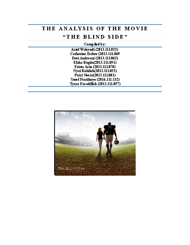 Side blind pdf the lewis michael