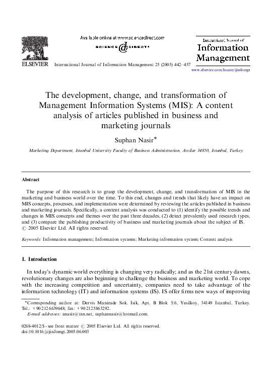 PDF) The Development, Change, and Transformation of Management