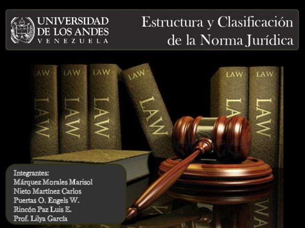 Pdf Estructura Y Clasificación De La Norma Jurídica