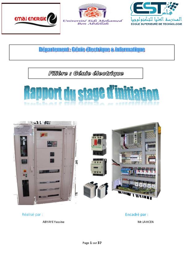 Pdf Rapport Du Stage électrique Yassin Abyay Academiaedu