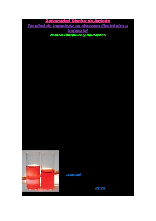 Tipos de aditivos del aceite hidráulico