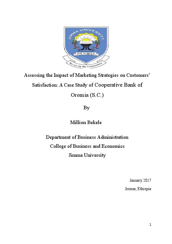 DOC) Assessing the Impact of Marketing Strategies on