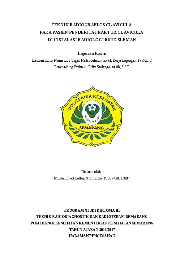 Laporan Kasus Os Clavicula Mukhammad Lutfan Academia Edu
