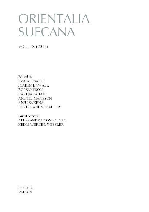 PDF) Orientalia Suecana: Vol  LX (2011) | Alessandra Consolaro