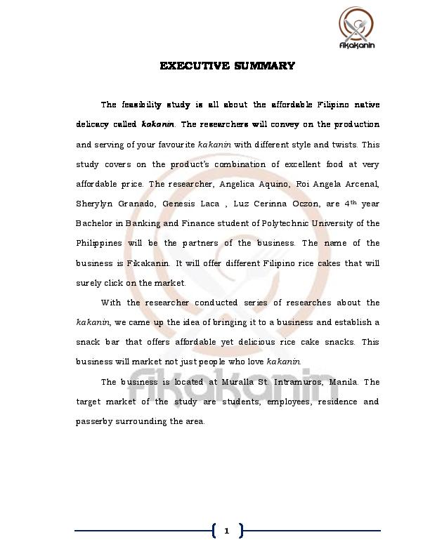 PDF) EXECUTIVE SUMMARY | Genesis Laca - Academia edu
