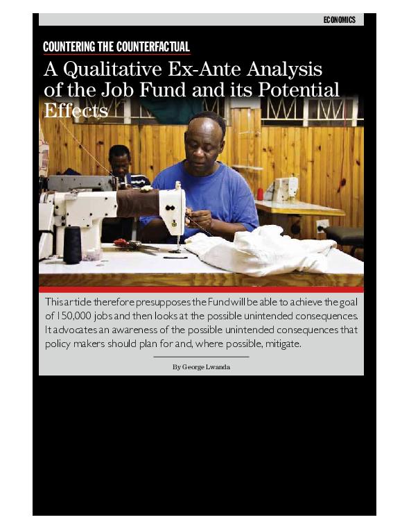 PDF) Lwanda Jobs Fund   George Lwanda - Academia edu