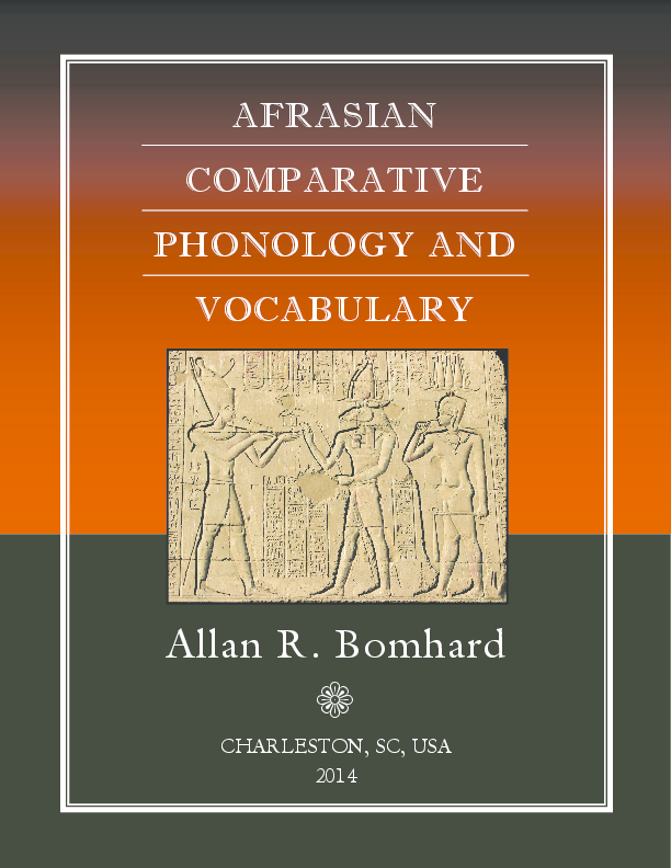PDF) Afrasian Comparative Phonology and Vocabulary (2014