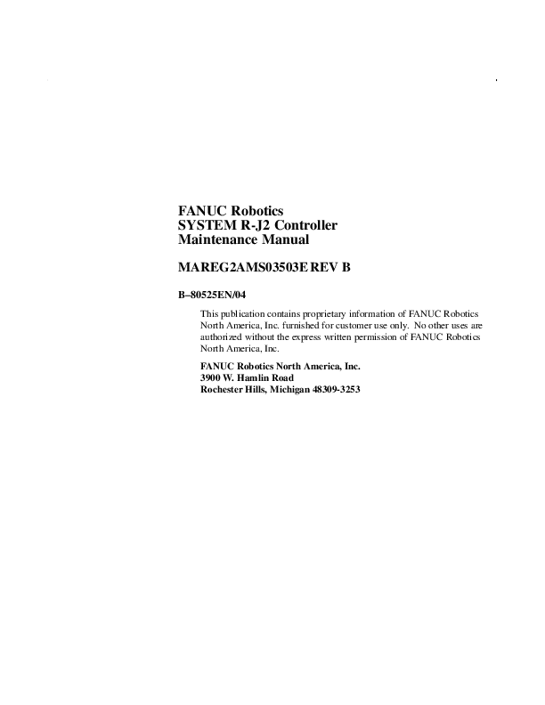 PDF) FANUC Robotics SYSTEM R-J2 Controller Maintenance Manual