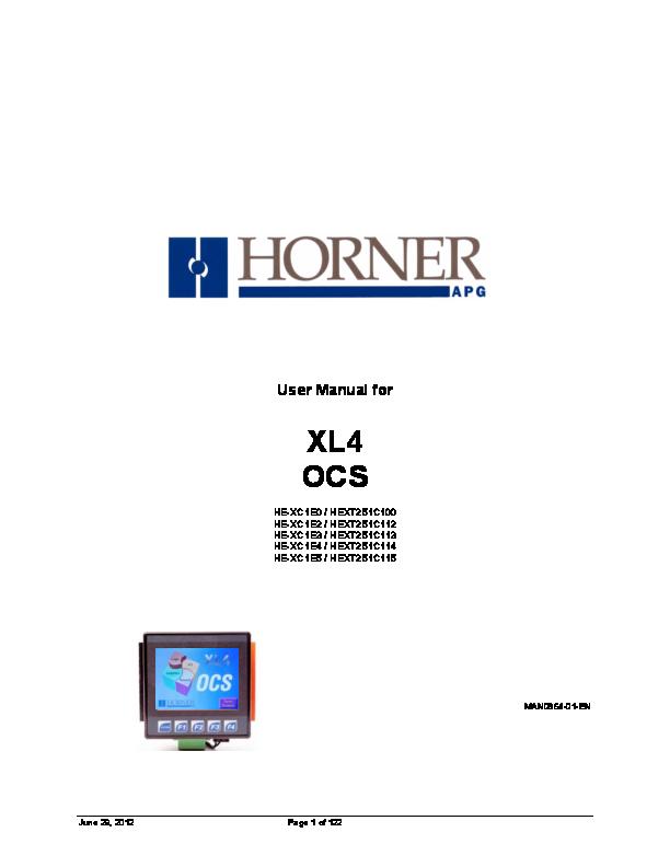 (PDF) User Manual for XL4 OCS HE-XC1E0 / HEXT251C100 HE