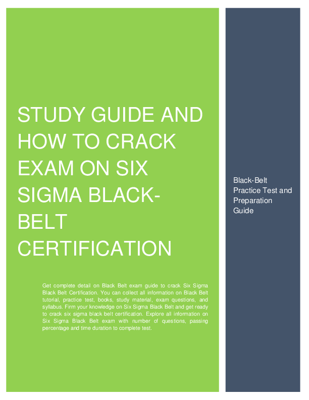 Preparation Guide And How To Crack Exam On Six Sigma Black Belt